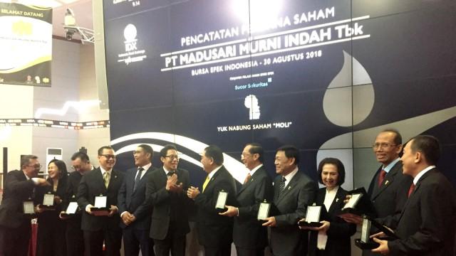 PT Madusari Murni Indah Tbk telah resmi menjadi angggota Bursa Efek Indonesia (BEI) ke 34