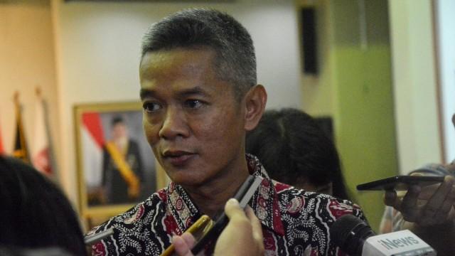 Komisioner KPU RI, Wahyu Setiawan di Gedung KPU RI, Jakarta