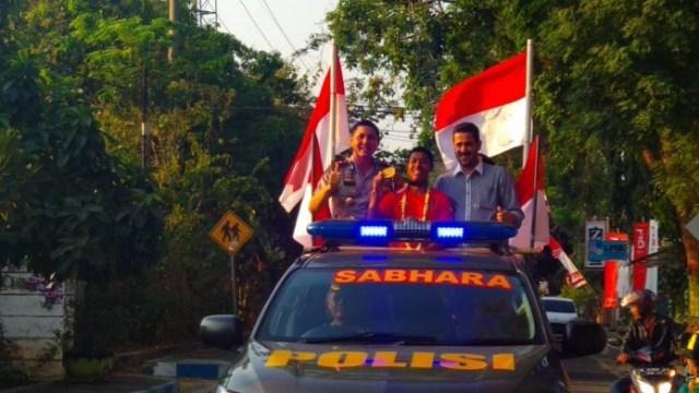 Rindi, Peraih Emas Panjat Tebing di Asian Games Pulang Kampung (64669)