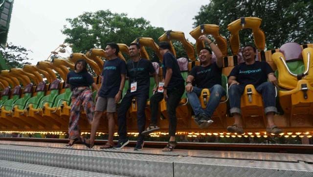 Para peserta komit up kumparan berkunjung ke Dufan, Ancol