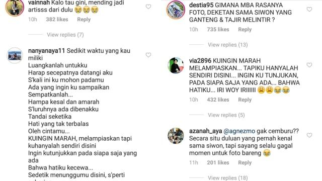 Komentar netizen di Instagram Bunga Citra Lestari saat foto bareng Siwon Super Junior
