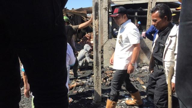 Pasar Gede Bage yang terbakar