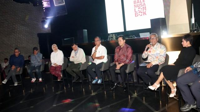 Jumpa Pers Donasi untuk Korban Gempa Lombok