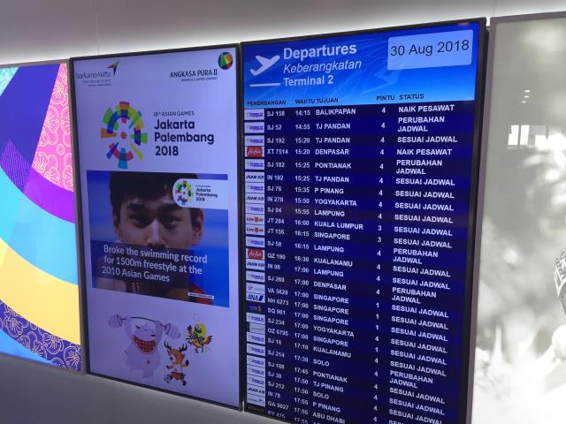 Flight Informations Display System di Airport Digital Lounge Bandara Soetta
