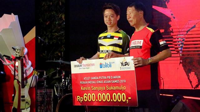 PB Djarum, bonus, Kevin Sanjaya Sukamuljo atas prestasi di Asian Games 2018