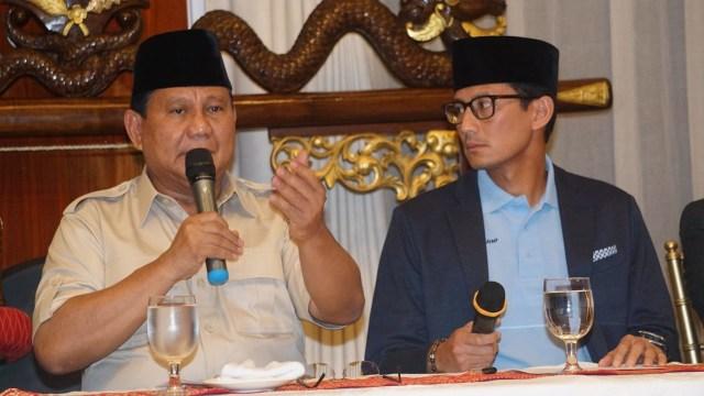 Pertemuan Capres dan Cawapres pasangan Prabowo-Sandi