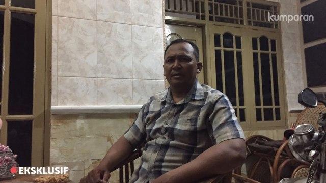 Ayah Bripda Puput, Teguh, Saat Ditemui di Rumahnya