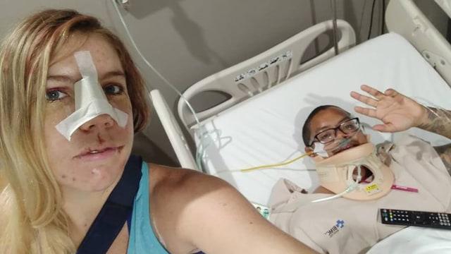 Mikey Lythcott dan Stacey Eno, Turis yang Alami Kecelakaan di Bali