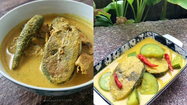 Ilustrasi resep masakan gulai ikan tongkol