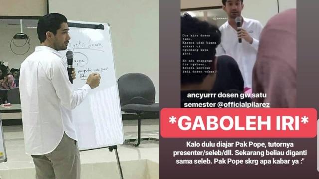Reza Rahadian mengajar di Vokasi Universitas Indonesia
