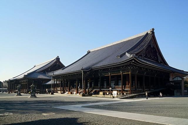 Kuil Nishi Hongwanji di Kyoto, Jepang