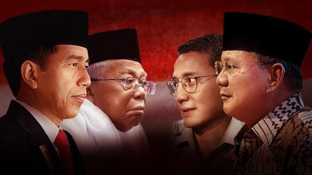 Jokowi-Ma'ruf dan Prabowo-Sandi untuk polling