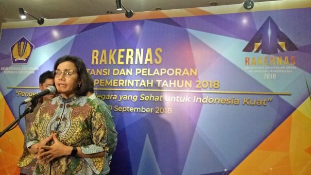 Menteri Keuangan, Sri Mulyani, Rakernas Akuntansi dan Pelaporan Keuangan Pemerintah 2018