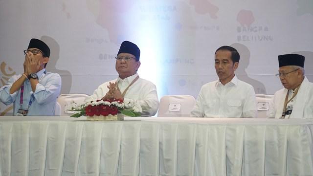 Jokowi-Ma'ruf Amin dan Prabowo-Sandi di KPU