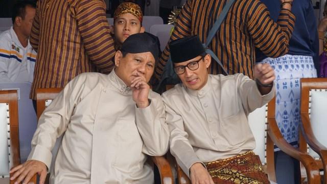 Prabowo dan Sandi di Monas