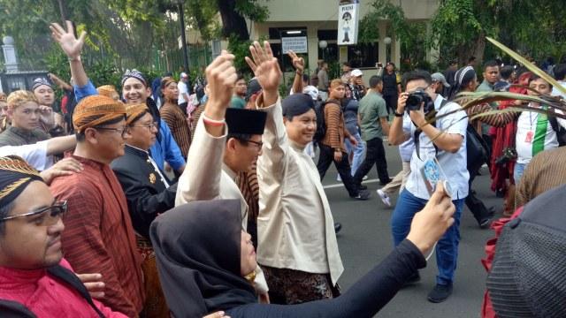 Sandiaga Uno, Prabowo, Deklarasi Kampanye Damai