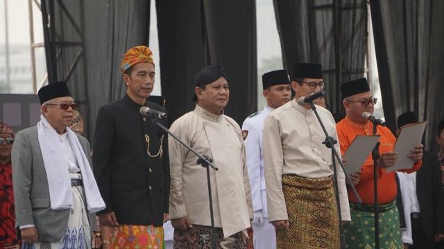 Deklarasi kampanye damai di Monas