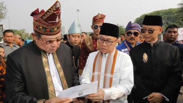 SBY dan Zulkifli Hasan di Monas