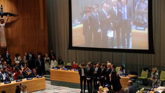 Kiprah BTS di Sidang Umum PBB 2018: Ajak Anak Muda Cintai Diri Sendiri (7325)