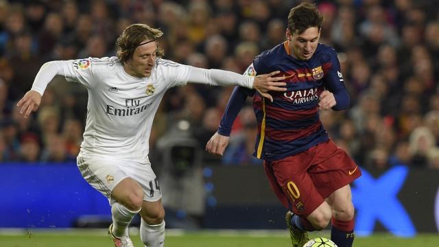 Lionel Messi dan Luka Modric
