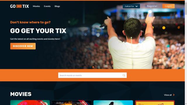 Go-Tix versi web