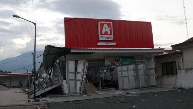 Minimarket Rusak, Gempa Palu