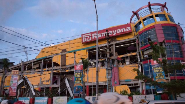 Kondisi pusat perbelanjaan, Kota Palu, gempa dan tsunami