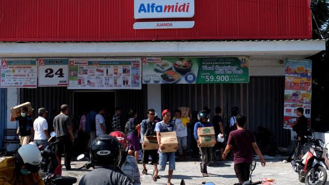Penjarahan Kota Palu, gempa, tsunami