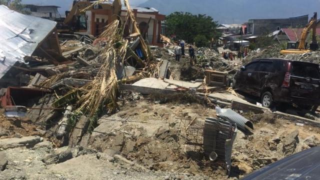Kondisi di Petobo, Palu, yang hancur akibat gempa bumi