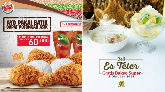 Peringati Hari Batik Nasional Ini 5 Promo Makanan Yang Bisa Kamu Coba Kumparan Com