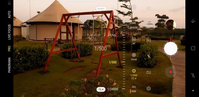 Shutter speed dan bukaan lensa Galaxy Note 9