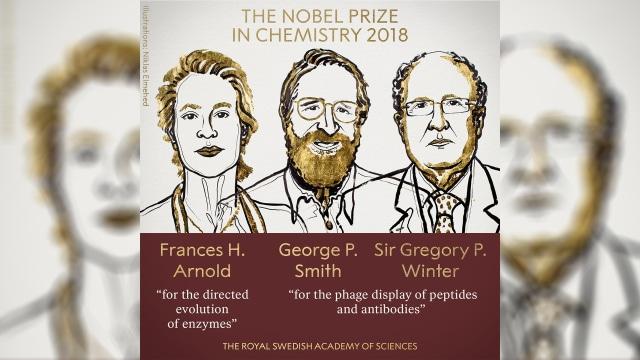 Manfaatkan Evolusi Enzim dan Antibodi, 3 Ilmuwan Raih Nobel Kimia 2018 (78949)