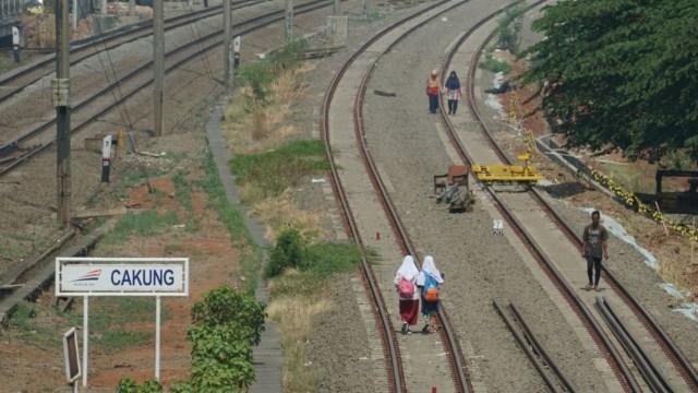 Stasiun Cakung, KRL, kereta, ilustrasi