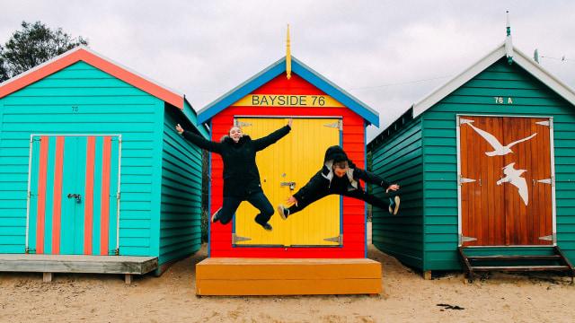 Brighton Beach di Melbourne, Australia