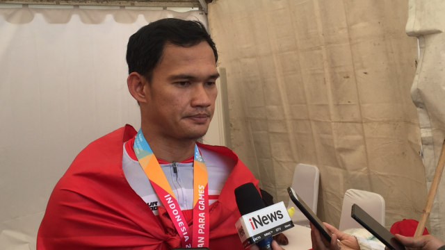 Marthin Losu, menang, atlet para sepeda Indonesia
