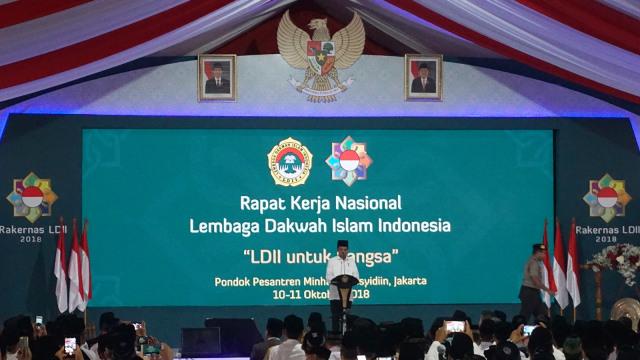 Beda Jokowi dan Prabowo saat di Rakernas LDII  (158065)