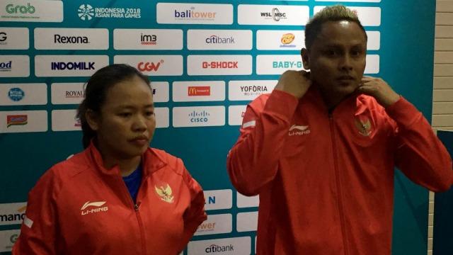 Suwarti dan M. Rian Prahasta, atlet tenis meja Indonesia