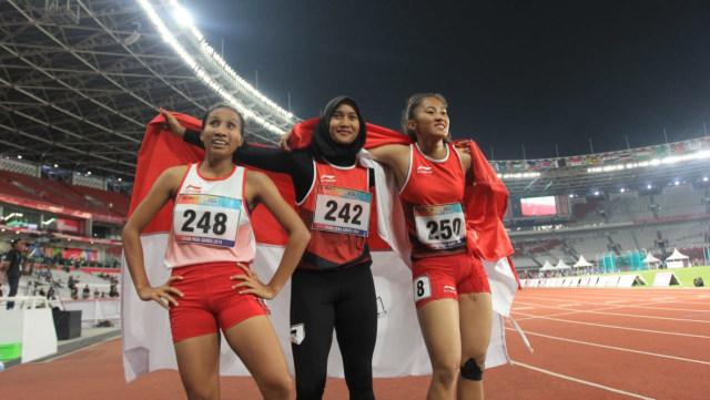 Putri Aulia, Ni Made Arianti Putri, Endang Sari Sitorus, atlet lari Indonesia 100m nomor T13, Asian Para Games 2018