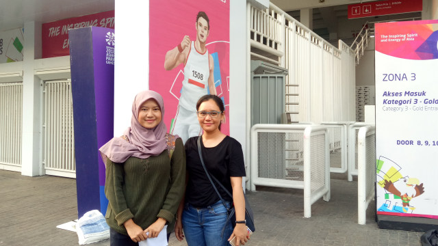 Ai dan Morina, penonton penutupan Asian Para Games  2018.