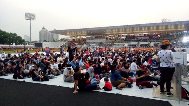 Suasana jelang penutupan Asian Para Games 2018.
