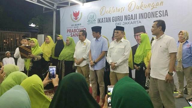 Deklarasi Guru Ngaji DKI Jakarta Dukung Prabowo-Sandi