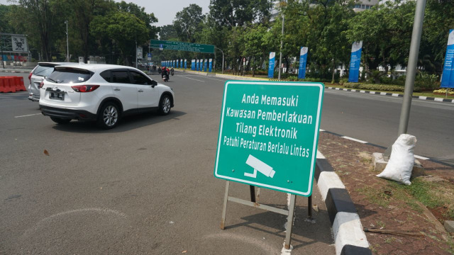 Ilustrasi tilang elektronik di Jakarta