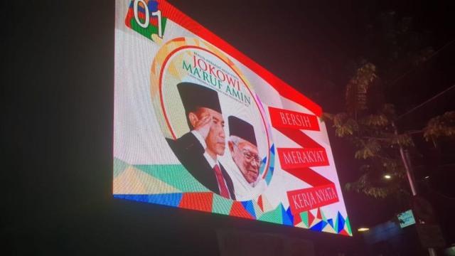 Videotron Jokowi-Ma'ruf, diduga langgar kampanye
