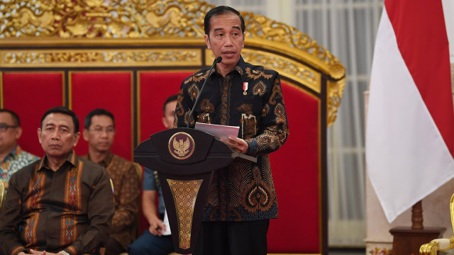 Presiden Joko Widodo, sidang kabinet paripurna