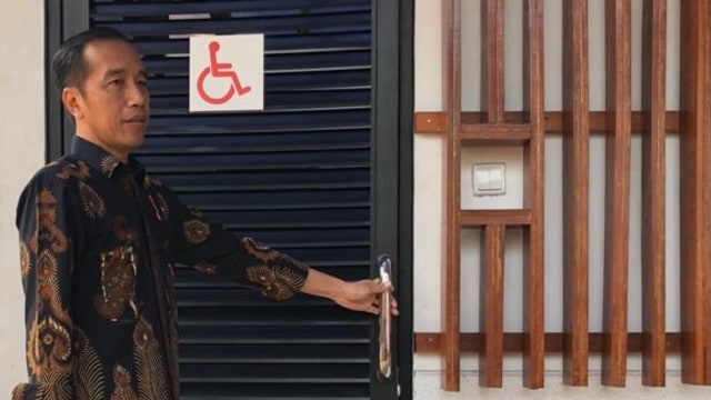 Jokowi, Anies, fasilitas difabel, GBK
