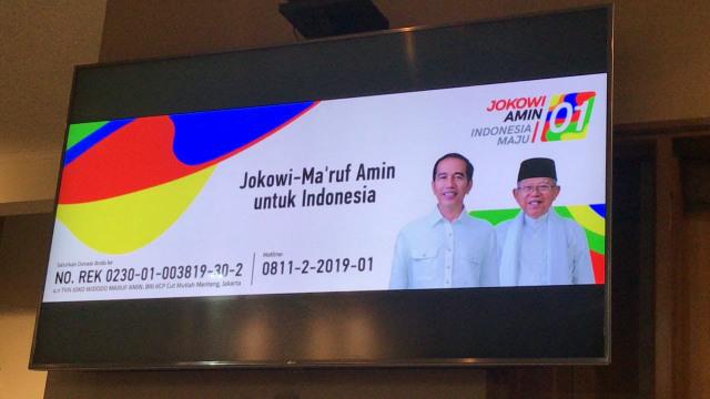 Tim Kampanye Nasional, Rekening Dana Kampanye