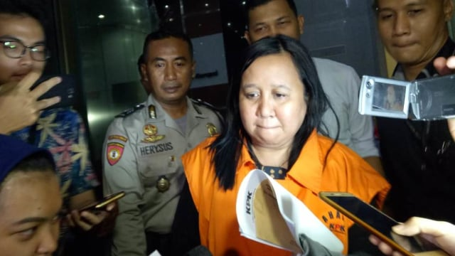 Neneng Rahmi, ditahan KPK