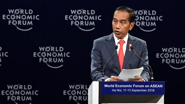 LIPSUS GAME OF THRONES, Presiden Joko Widodo, World Economic Forum on ASEAN di National Convention Centre di Hanoi