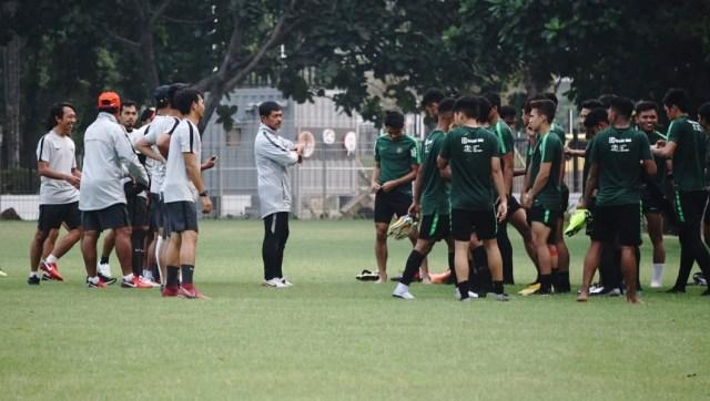Timnas U-19, Sesi latihan, lapangan A, Senayan