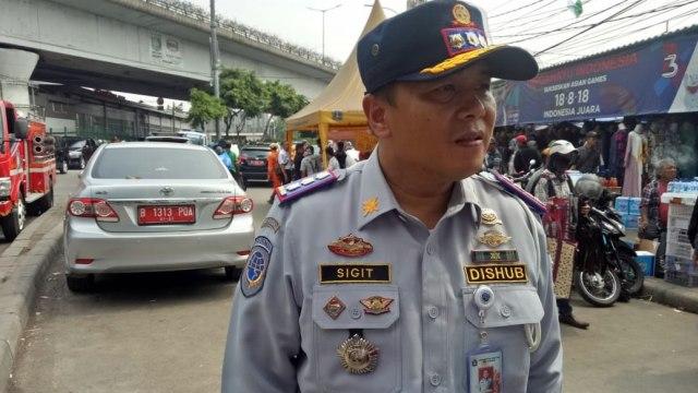 Plt Kepala Dinas Perhubungan DKI Jakarta Sigit Wijatmoko